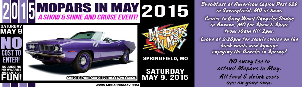 Mopars In May – May 9, 2015